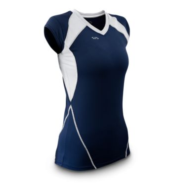 Women's Ace Fitted Volleyball Jersey Cap Sleeve
