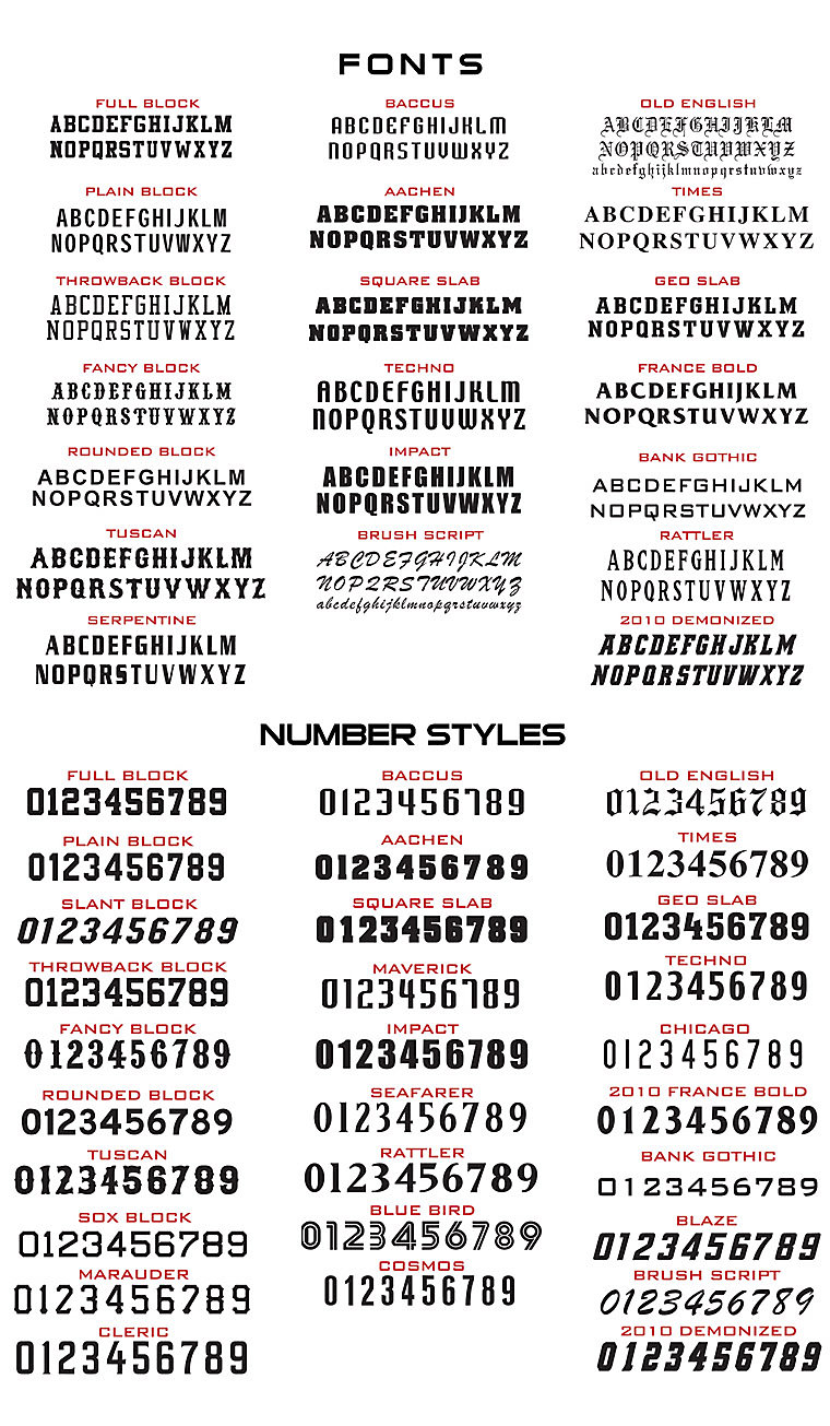 Boombah Authentic Fonts