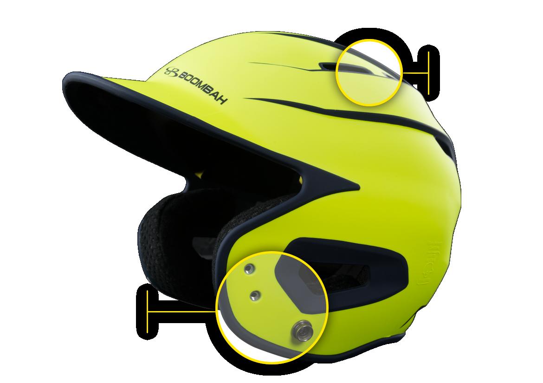 Boombah Defcon Sleek Profile Batters's Helmet