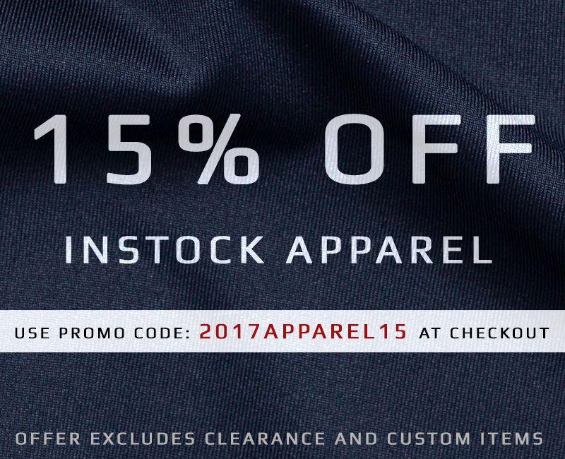 15% Off Instock Apparel