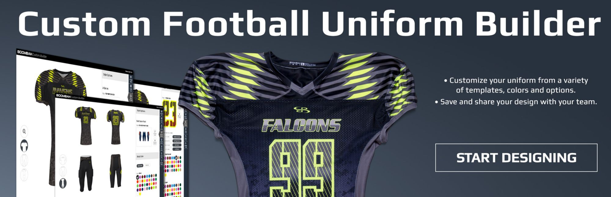Boombah Custom Full Dye Football Uniforms