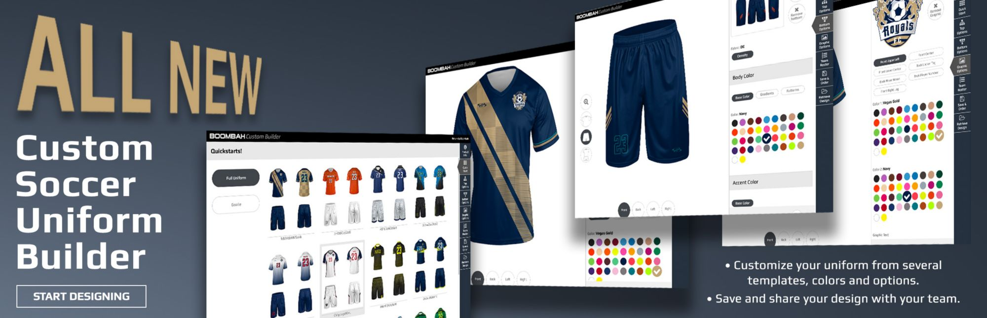 Boombah Custom Soccer Uniform Builder