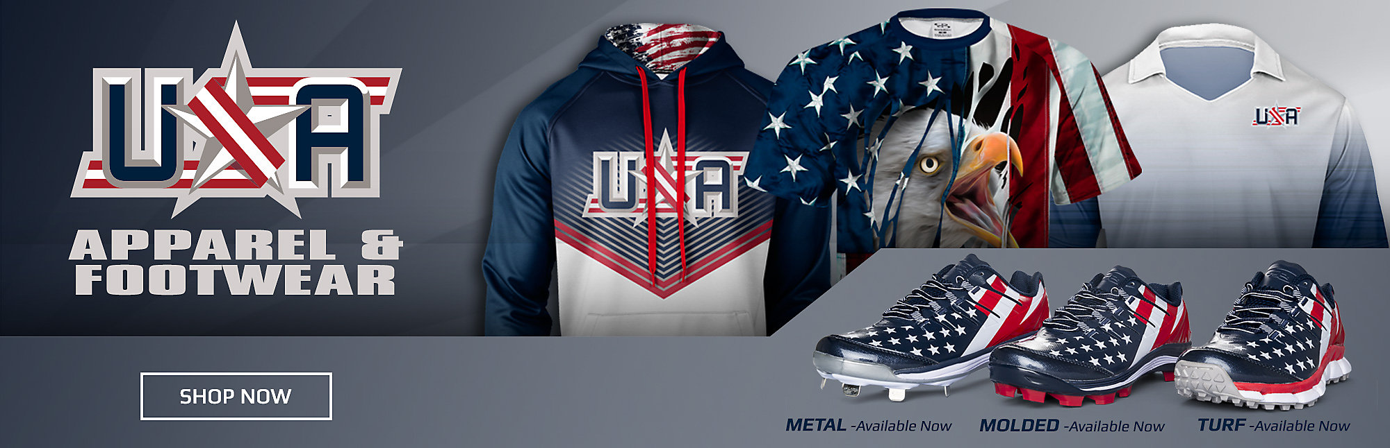 USA Flag Turf Shoes & Cleats