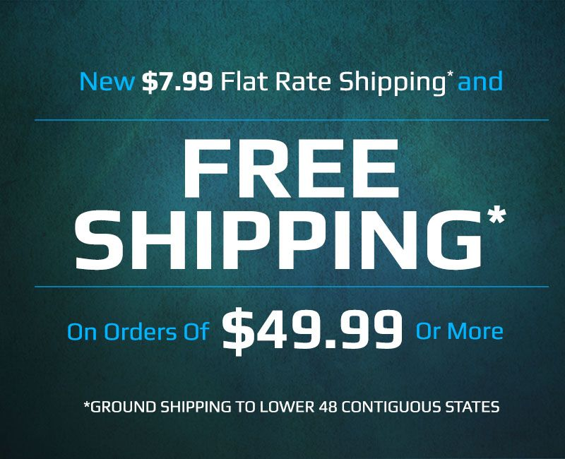 Free Shipping on Orders of $49.99 or more