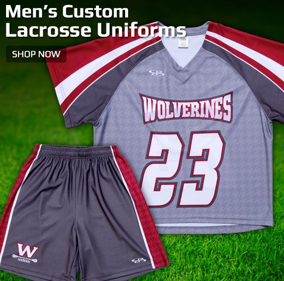 Boombah Men's Custom Lacrosse Uniforms