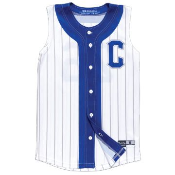 Fastpitch Softball Full Button Sleeveless Jersey