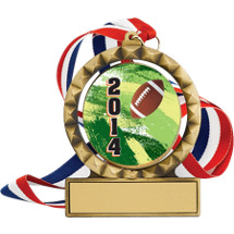 "2 3/4"" Super Saver Football Individual Spin Medal Deal"