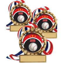 "Baseball Medals - 2 3/4"" 2016 Super Saver Baseball Spin Medal Package Deal - Set of 15"