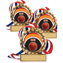 "Set of 12 - 2 3/4"" Super Saver Basketball Spin Medal Package Deal"