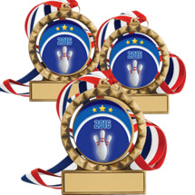 "2 3/4"" Super Saver 2016 Bowling Spin Medal Package Deal - Set of 15"