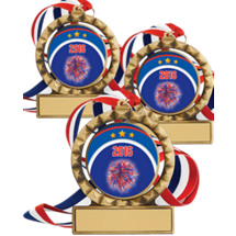 "Set of 8 - 2 3/4"" Super Saver Cheerleading Spin 2016 Medal Package Deal"