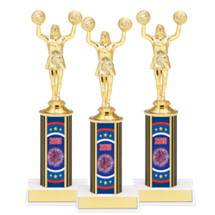 "9 3/4"" Super Saver Cheer 2016 Package Deal - 8 Female Cheer Trophies"