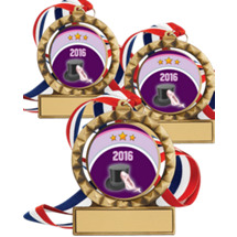 "Dance Medals - 2 3/4"" Super Saver 2016 Dance Spin Medal Package Deal - Set of 3"