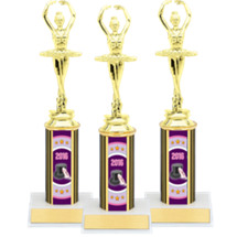 "Dance Trophies - 10"" Super Saver 2016 Dance Package Deal with Ballerina Figure - Set of 3"
