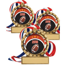 "2 3/4"" 2016 Super Saver Football Spin Medal Package Deal - 15 Football Medals"