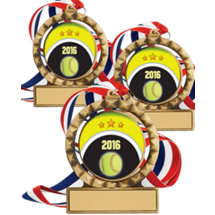 "Softball Medals - 2 3/4"" 2016 Super Saver Softball Spin Medal Package Deal - Set of 15"