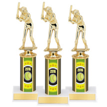 "Softball Trophies - 10"" 2016 Super Saver Softball Package Deal with Female Action Softball Figure - Set of 15"