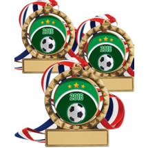 "Soccer Medals - 2 3/4""  2016 Super Saver Soccer Spin Medal Package Deal - Set of 15"