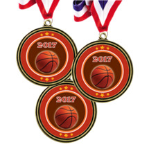 "Set of 12 - 2"" Super Saver Basketball Medal Package Deal"