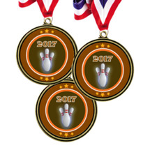 "2 1/2"" Super Saver 2017 Bowling Medal Package Deal - Set of 15"