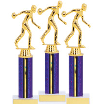 "9 1/2"" Purple Super Saver 2017 Bowling Package Deal - 15 Bowling Trophies"