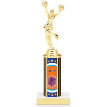 "9 3/4"" Super Saver Cheer Individual Deal - 2017 Female Cheer Trophy"