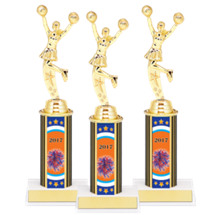 "9 3/4"" Super Saver Cheer 2017 Package Deal - 8 Female Cheer Trophies"