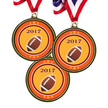 """2 1/2"""" 2017 Super Saver Football Medal Package Deal - 15 Football Medals"""