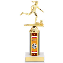 "Soccer Trophy - 9 1/2"" 2017 Female Soccer Trophy - Individual Deal"