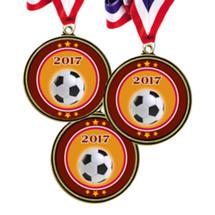 """Soccer Medals - 2 1/2""""  2017 Super Saver Soccer Medal Package Deal - Set of 15"""