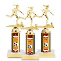 "Soccer Trophies - 9 1/2"" 2017 Female Soccer Package Deal - 15 Soccer Trophies"