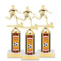 "Soccer Trophies - 9 1/2"" 2017 Male Soccer Package Deal - 15 Soccer Trophies"