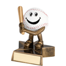 "4"" Resin Happy Baseball Trophy"