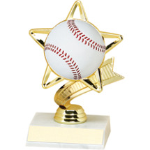"DINN DEAL! 6 1/4"" Baseball Star Trophy"