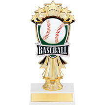 "7 1/2"" Baseball and Stars Trophy"