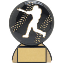 "Baseball Trophy - 4 1/2"" Male Baseball Shadow Resin Award"