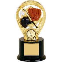 "Baseball Trophy - 5"" Colorful Baseball Riser Trophy"