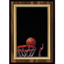 "5 x 7"" Basketball Plaque with Basketball Image"