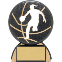 "Basketball Trophy - 4 1/2"" Female Basketball Shadow Resin Award"