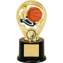 "Basketball Trophy - 5"" Colorful Basketball Riser Trophy"