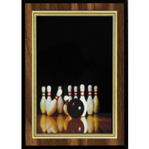 "5 x 7"" Bowling Plaque with Bowling Image"
