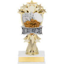 "7 1/2"" Cheerleader and Stars Trophy"
