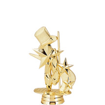 3d Dance Gold Trophy Figure