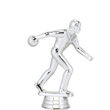 Ten Pin Bowler Male Silver Trophy Figure