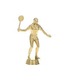 Female Badminton Gold Trophy Figure