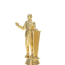 Male Speaker w/ Podium Gold Trophy Figure