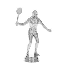 Badminton Female Silver Trophy Figure