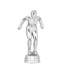 Swimming Female Silver Trophy Figure
