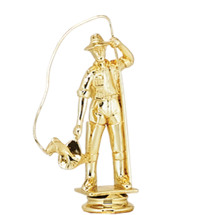 Fisherman Gold Trophy Figure