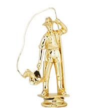 Fisherman Gold Trophy Figure
